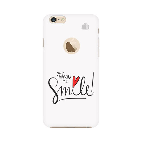 You make me Smile Apple iPhone 6 with Apple Round  Phone Cover