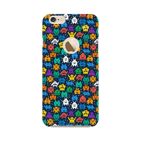 16 Bit Pattern Apple iPhone 6s with Apple Round  Phone Cover