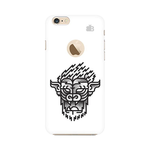 Arty Lion Apple iPhone 6s with Apple Round  Phone Cover