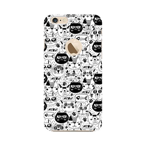 Cute Cats Pattern Apple iPhone 6s with Apple Round  Phone Cover