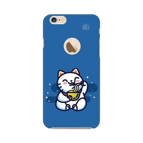 KItty eating Noodles Apple iPhone 6s with Apple Round  Phone Cover
