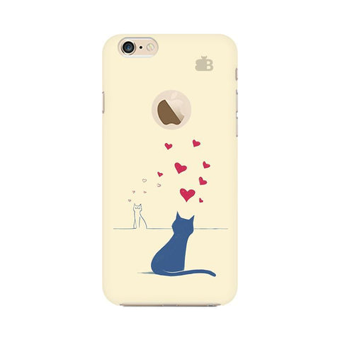 Kitty in Love Apple iPhone 6s with Apple Round  Phone Cover