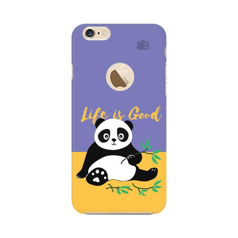 Panda Life is Good Apple iPhone 6s with Apple Round  Phone Cover