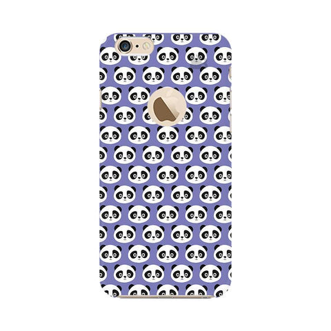 Panda Pattern Apple iPhone 6s with Apple Round  Phone Cover