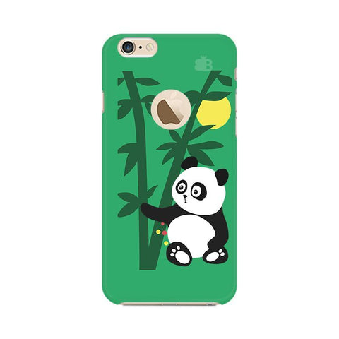 Panda in Woods Apple iPhone 6s with Apple Round  Phone Cover