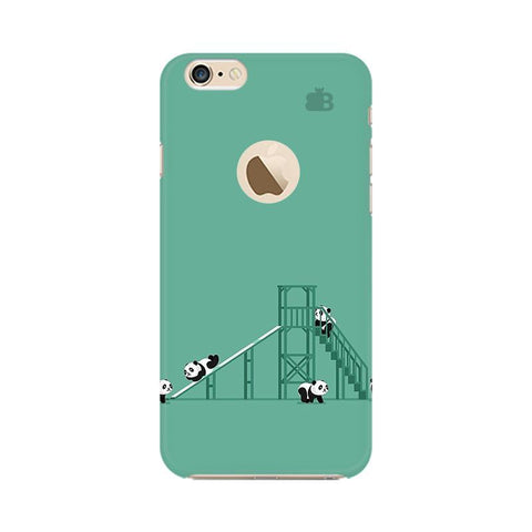 Pandas Playing Apple iPhone 6s with Apple Round  Phone Cover