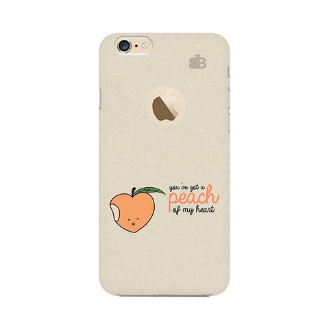 Peach of my heart Apple iPhone 6s with Apple Round  Phone Cover