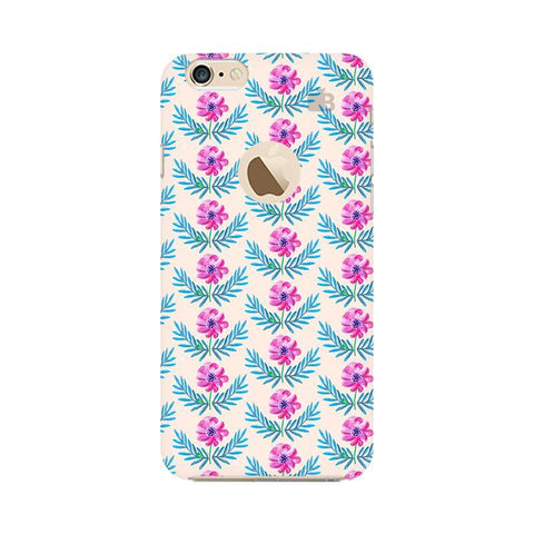 Pink Watercolor Pattern Apple iPhone 6s with Apple Round  Phone Cover