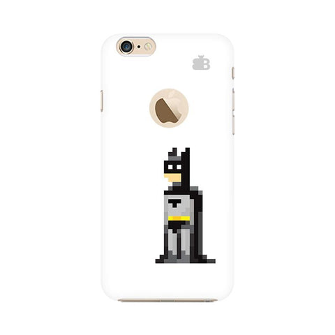 Pixelated Superhero Apple iPhone 6s with Apple Round  Phone Cover