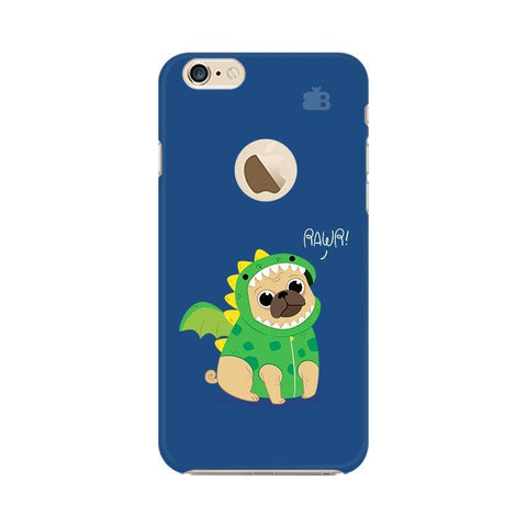 Pug-Rawr Apple iPhone 6s with Apple Round  Phone Cover