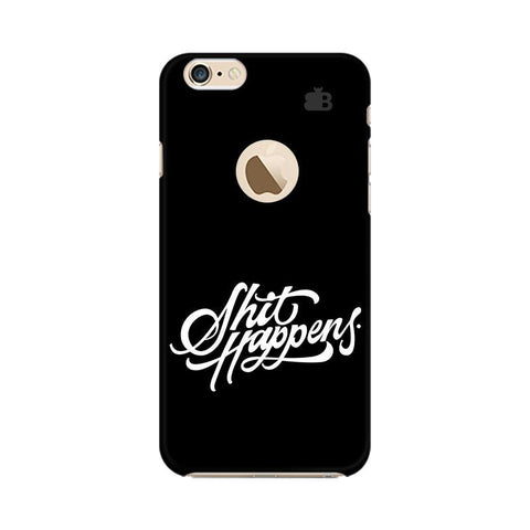 Shit Happens Apple iPhone 6s with Apple Round  Phone Cover