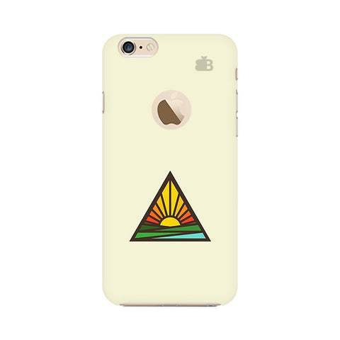 Triangular Sun Apple iPhone 6s with Apple Round  Phone Cover