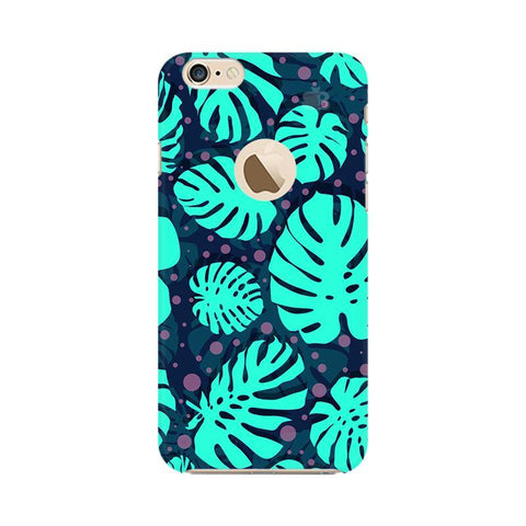 Tropical Leaves Pattern Apple iPhone 6s with Apple Round  Phone Cover