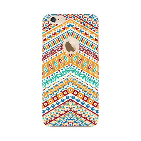 Wavy Ethnic Art Apple iPhone 6s with Apple Round  Phone Cover