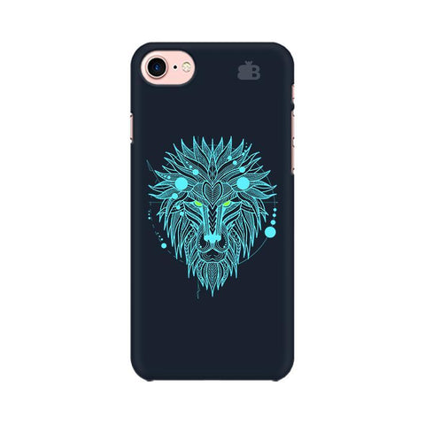 Abstract Art Lion Apple iPhone 7 Phone Cover
