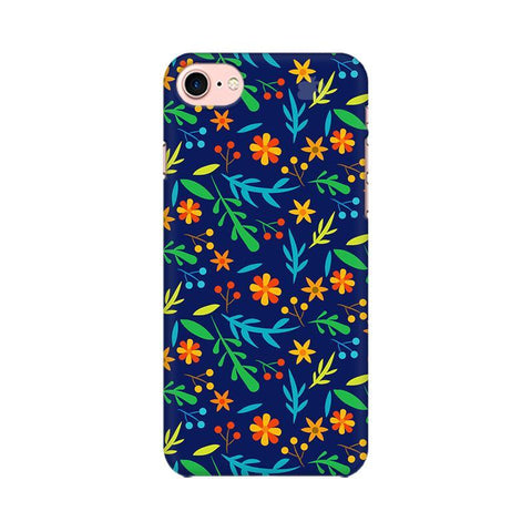 Vibrant Floral Pattern Apple iPhone 7 Phone Cover