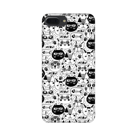 Cute Cats Pattern Apple iPhone 7 Plus Phone Cover