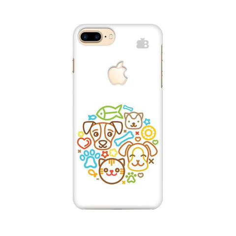Cute Pets Apple iPhone 7 Plus with Apple Cut Phone Cover