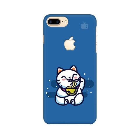 KItty eating Noodles Apple iPhone 7 Plus with Apple Cut Phone Cover