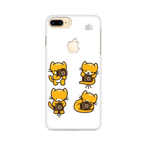 Photographer Kitty Apple iPhone 7 Plus with Apple Cut Phone Cover