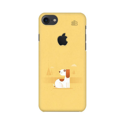 Calm Dog Apple iPhone 7 with Apple Cut Phone Cover