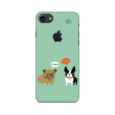 Cute Dog Buddies Apple iPhone 7 with Apple Cut Phone Cover