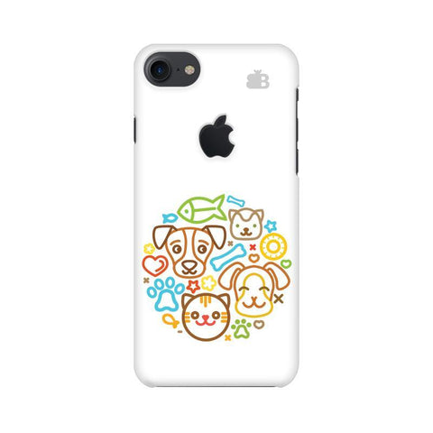 Cute Pets Apple iPhone 7 with Apple Cut Phone Cover