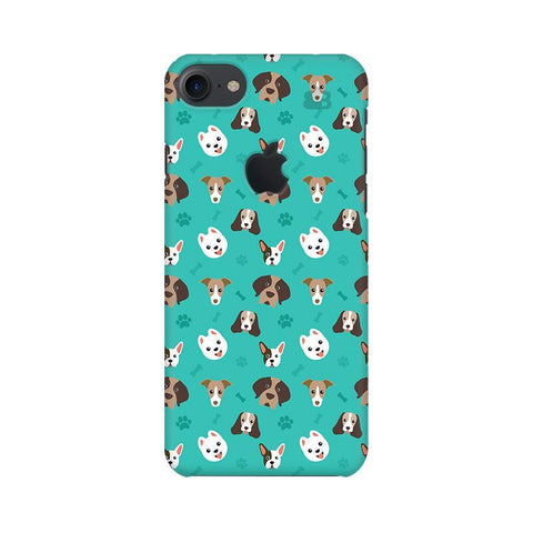 Doggie Pattern Apple iPhone 7 with Apple Cut Phone Cover