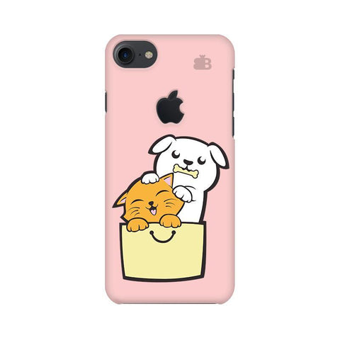 Kitty Puppy Buddies Apple iPhone 7 with Apple Cut Phone Cover