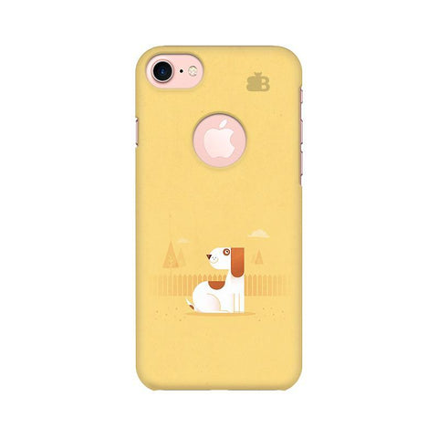 Calm Dog Apple iPhone 7 with Round Cut Phone Cover