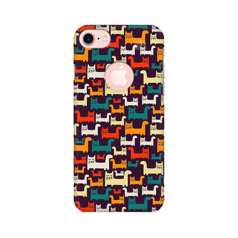 Chill Cats Apple iPhone 7 with Round Cut Phone Cover