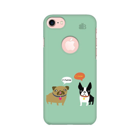 Cute Dog Buddies Apple iPhone 7 with Round Cut Phone Cover