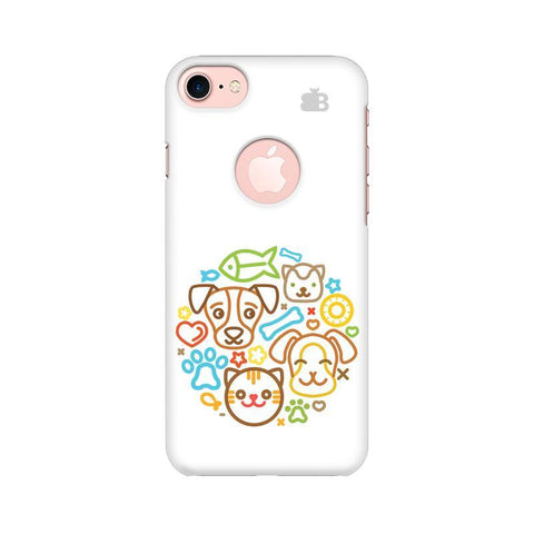 Cute Pets Apple iPhone 7 with Round Cut Phone Cover