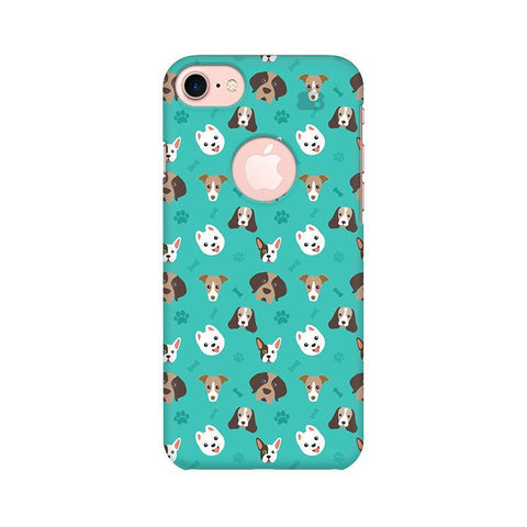 Doggie Pattern Apple iPhone 7 with Round Cut Phone Cover