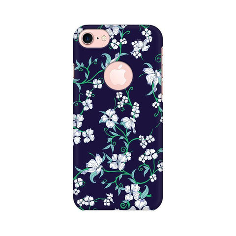 Dogwood Floral Pattern Apple iPhone 7 with Round Cut Phone Cover
