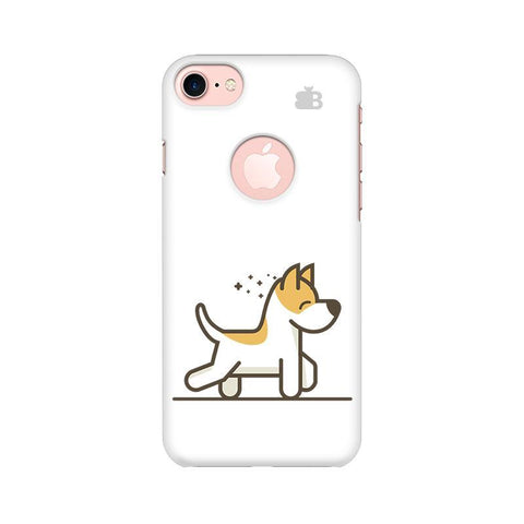 Happy Puppy Apple iPhone 7 with Round Cut Phone Cover