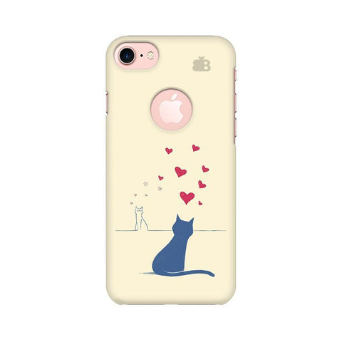 Kitty in Love Apple iPhone 7 with Round Cut Phone Cover