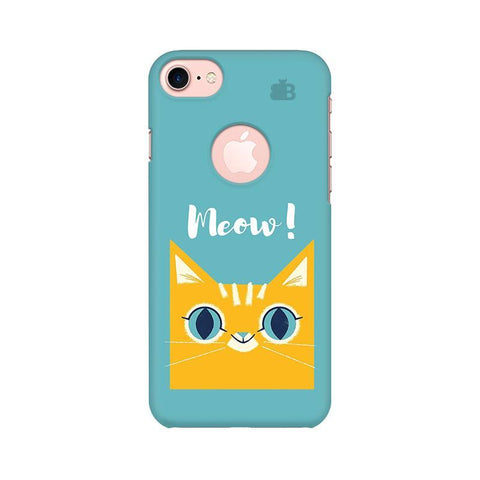 Meow Apple iPhone 7 with Round Cut Phone Cover