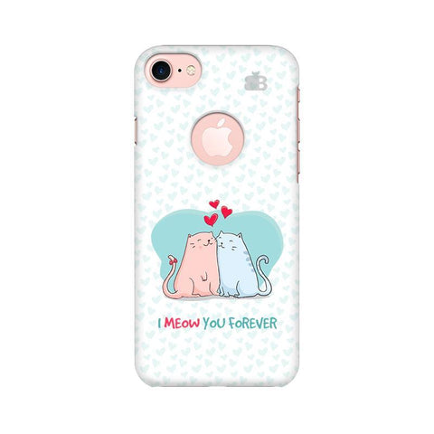 Meow You Forever Apple iPhone 7 with Round Cut Phone Cover
