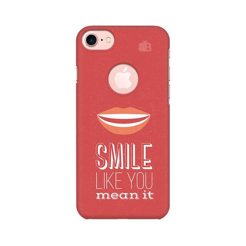 Smile Apple iPhone 7 with Round Cut Phone Cover