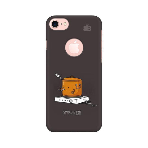 Smoking Pot Apple iPhone 7 with Round Cut Phone Cover