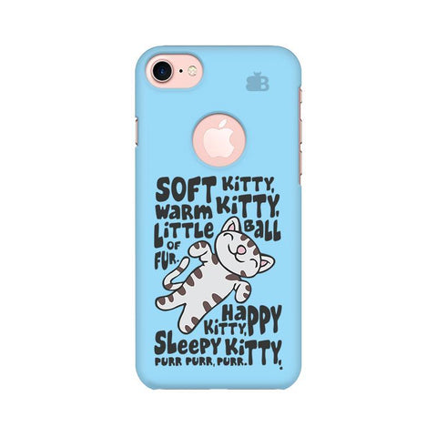 Soft Kitty Apple iPhone 7 with Round Cut Phone Cover
