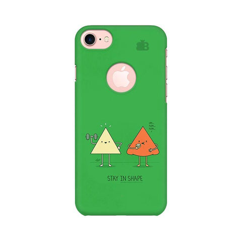 Stay in Shape Apple iPhone 7 with Round Cut Phone Cover