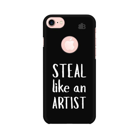 Steal like an Artist Apple iPhone 7 with Round Cut Phone Cover