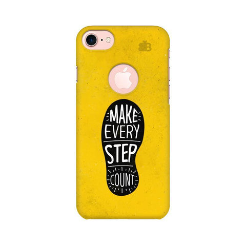 Step Count Apple iPhone 7 with Round Cut Phone Cover