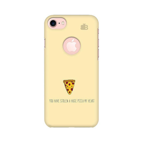 Stolen Huge Pizza Apple iPhone 7 with Round Cut Phone Cover