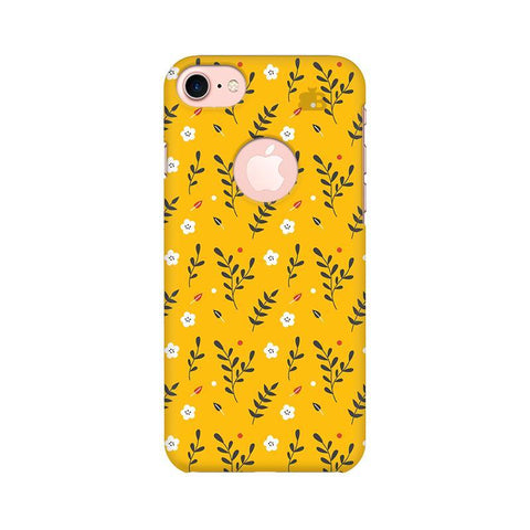 Summer Floral Pattern Apple iPhone 7 with Round Cut Phone Cover