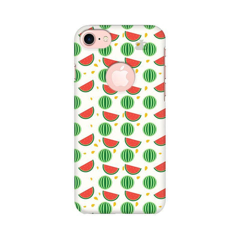Summer Melons Apple iPhone 7 with Round Cut Phone Cover