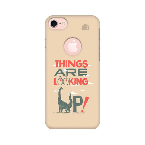 Things are looking Up Apple iPhone 7 with Round Cut Phone Cover