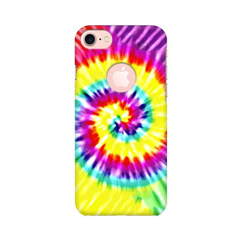 Tie & Die Art Apple iPhone 7 with Round Cut Phone Cover